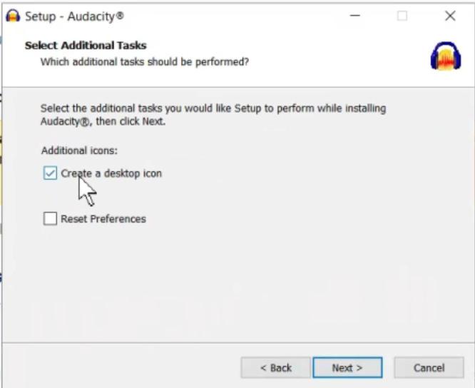 Audacity Desktop Shortcut