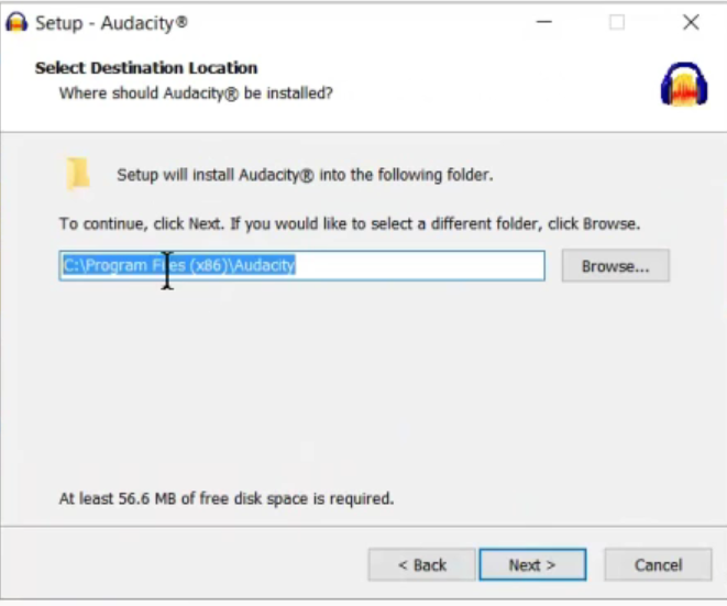 Location of Audacity Files